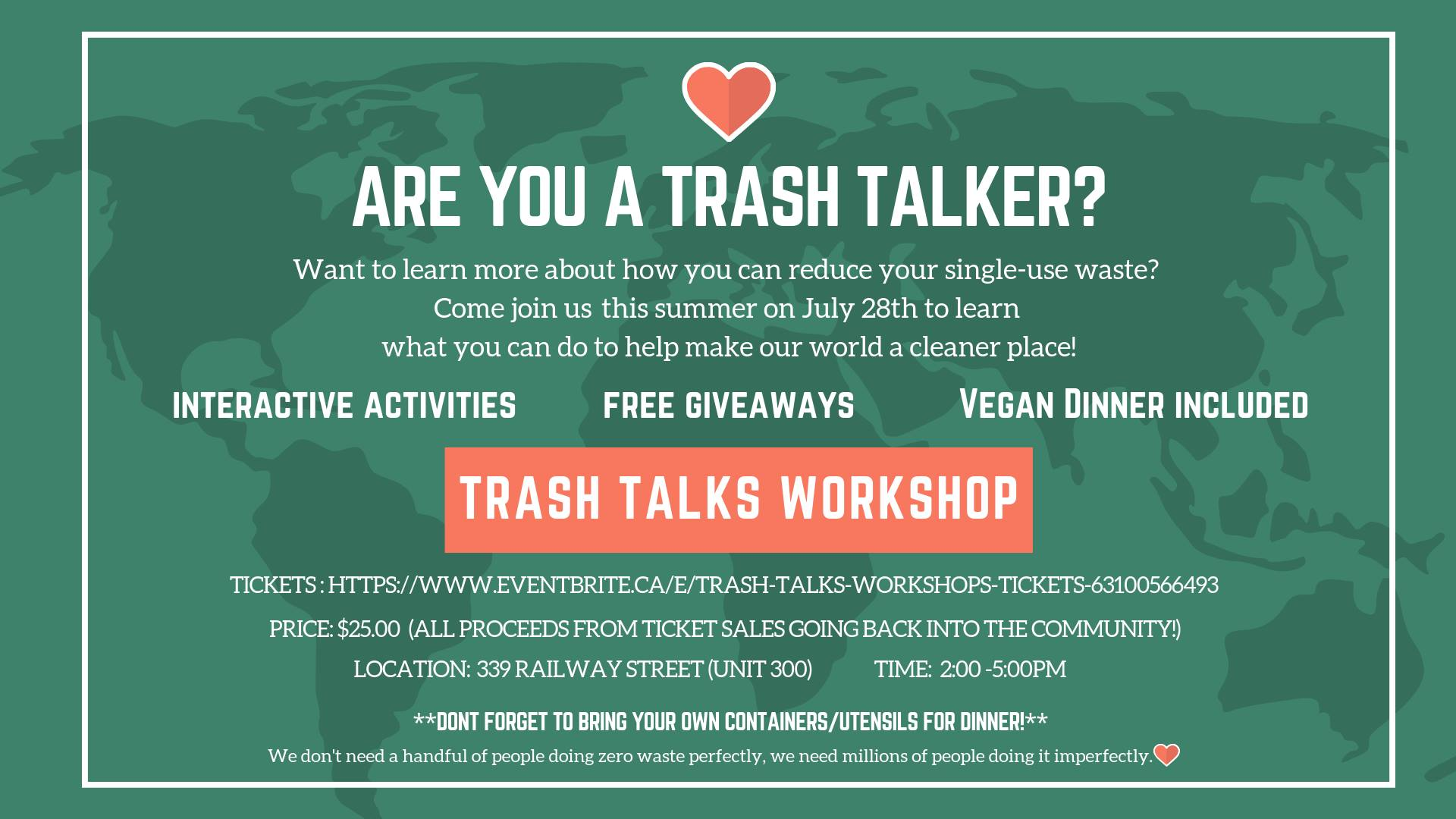 Trash Talk Workshop – July 28, 2019